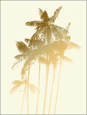 Tableau en plexi-alu  Palm trees design poster - tobacco - Alex Saberi