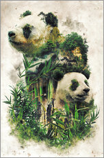 Sticker mural  The Giant Panda - Barrett Biggers
