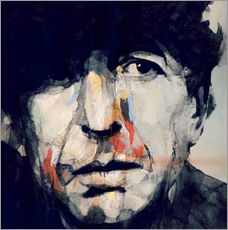 Tableau en plexi-alu  Leonard Cohen - Paul Lovering