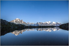 Sticker mural  Mont Blanc reflected in Lacs des Chéserys, France - Roberto Sysa Moiola