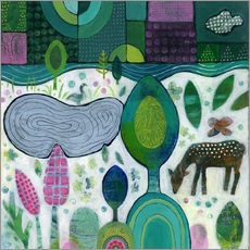 Tableau en plexi-alu  Playful Dawn - Janet Broxon