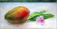 Sticker mural  julie mango with orchid - Jonathan Guy-Gladding