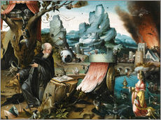 Sticker mural  The temptations of St. Anthony - Hieronymus Bosch