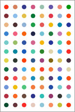 Tableau en plexi-alu  Points colorés - THE USUAL DESIGNERS
