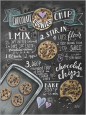 Sticker mural Recette des Chocolate chip cookies (anglais)