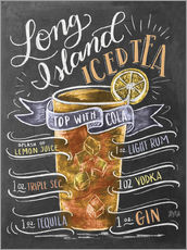Tableau en plexi-alu  Rectte du Long Island Ice Tea (anglais) - Lily & Val