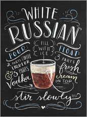 Sticker mural  Recette du White Russian (anglais) - Lily & Val