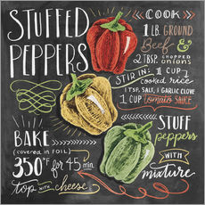 Sticker mural  Recette des Stuffed peppers (anglais) - Lily & Val