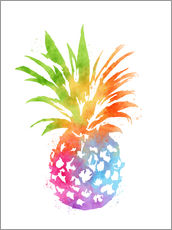 Sticker mural  WC Pineapple 16x20 - Mod Pop Deco