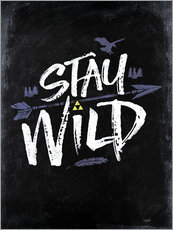 Tableau en plexi-alu  Stay Wild - Barrett Biggers