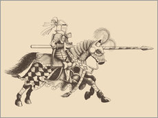 Sticker mural  Knight with armor and horse
