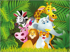 Sticker mural  Les animaux de la jungle - Kidz Collection