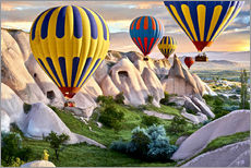 Sticker mural  Hot air balloons over Goreme tuff rock formations