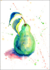 Sticker mural Sweet pear watercolor