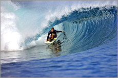 Sticker mural  Surfing blue paradise island wave - Paul Kennedy