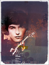 Sticker mural  george harrison - Daniel Matzenbacher