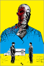 Sticker mural  Breaking Bad Gus Fring death whit blood - Paola Morpheus