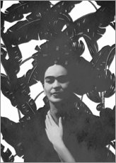Sticker mural  Frida en noir et blanc - Mandy Reinmuth