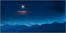 Tableau en plexi-alu  Moon over mountains - Mark Scheper