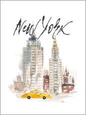 Tableau en plexi-alu  Aquarelle New York