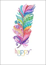 Sticker mural  Happy - MiaMia