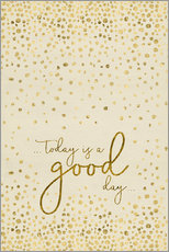 Sticker mural  TODAY IS  A GOOD DAY gold - Melanie Viola