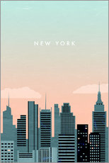 Sticker mural  Illustration New York - Katinka Reinke