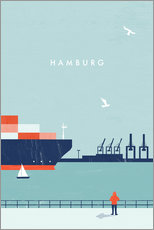 Tableau en plexi-alu  Illustration Hamburg - Katinka Reinke