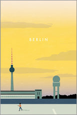 Tableau en plexi-alu  Illustration Berlin, Tempelhof - Katinka Reinke