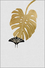 Tableau en plexi-alu  Papillon et Monstera - Orara Studio