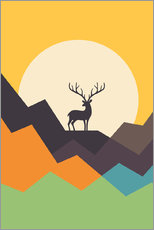 Sticker mural  Cerf - Andy Westface