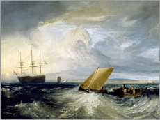 Sticker mural  Sheerness as seen from the Nore - Joseph Mallord William Turner