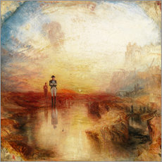 Tableau en plexi-alu  Guerre et exil - Joseph Mallord William Turner