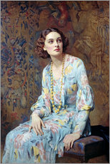 Sticker mural  Portrait d'une dame - Albert Henry Collings