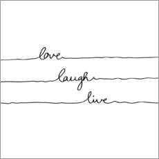 Sticker mural Love Laugh Live