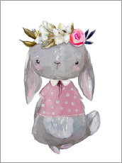Kidz Collection - Summer bunny with flowers in her hair
