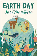 Sticker mural  Conservation de la nature (anglais) - Kidz Collection