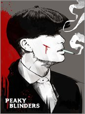 Sticker mural  Peaky Blinders - Tommy Shelby - 2ToastDesign
