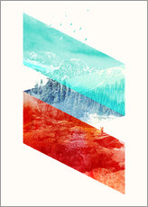 Sticker mural  Mountain Stripes - Robert Farkas