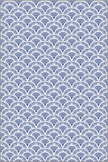 Sticker mural Fish scales pattern in blue