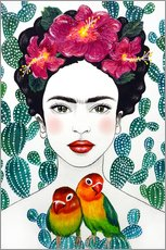 Sticker mural  Les tourtereaux de Frida - Mandy Reinmuth