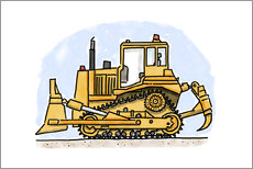 Sticker mural  Hugos bulldozer - Hugos Illustrations