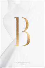 Tableau en plexi-alu  GOLD LETTER COLLECTION B - Stephanie Wünsche