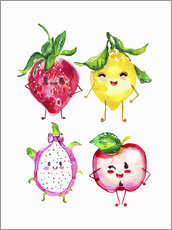 Sticker mural  Fruits coquins - Ikon Images