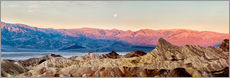 Sticker mural  USA, California, Death Valley National Park, Panoramic view of moon setting at sunrise over Panamint - Ann Collins