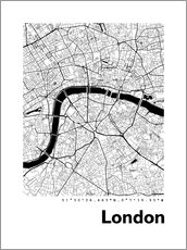 Tableau en plexi-alu  Plan de la ville de Londres - 44spaces
