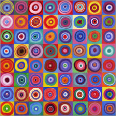Sticker mural  Carré de cercles selon Kandinsky - David Newton