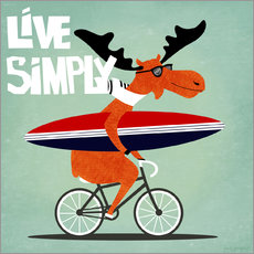 Sticker mural gaby jungkeit live simply