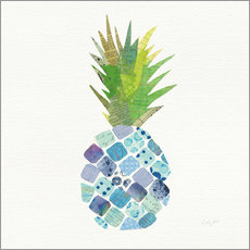 Sticker mural  Ananas tropical amusant II - Courtney Prahl
