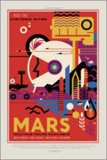 Sticker mural  Retro Space Travel, Mars